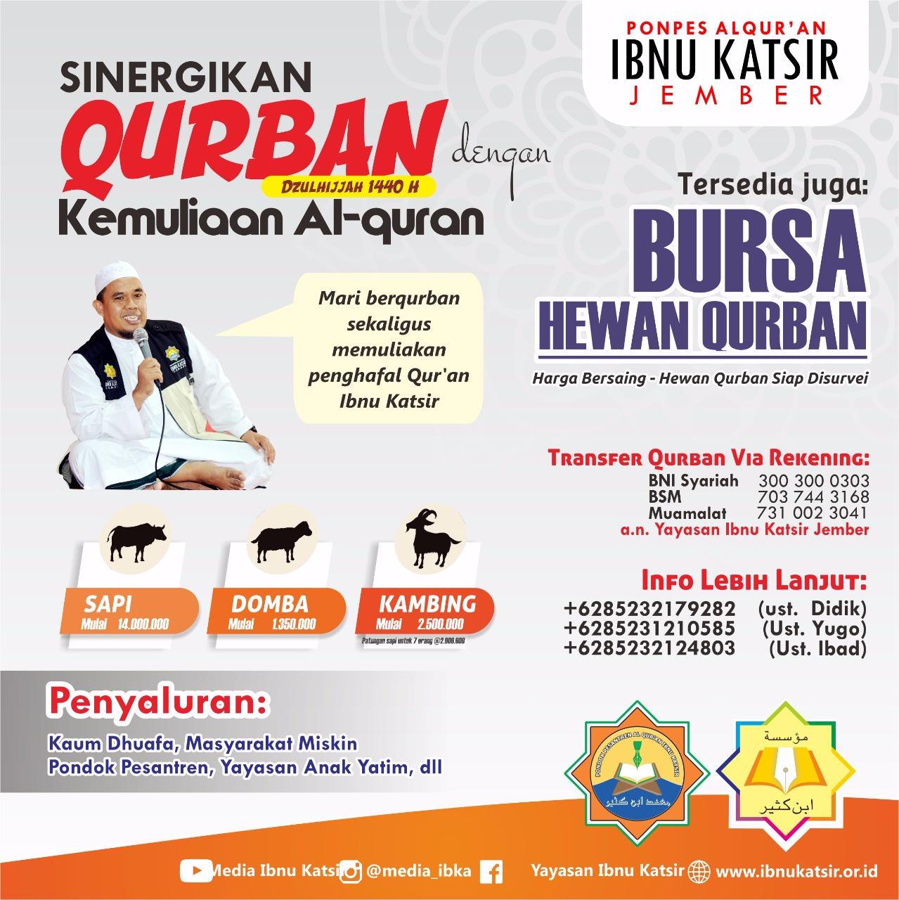 Yuk, Kurban Bersama Penghafal Quran